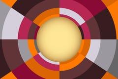 Fond abstrait de vecteur avec la composition en cercle Photos libres de droits