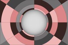 Fond abstrait de vecteur avec la composition en cercle Photo libre de droits