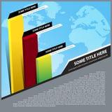 Fond abstrait de vecteur avec le graphique de gestion Photo libre de droits