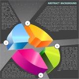 Fond abstrait de vecteur avec le graphique en travers Photos libres de droits