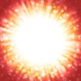 Fond abstrait de vecteur avec le rayon de soleil et le bokeh Images stock