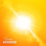Fond abstrait de vecteur avec le soleil et la lentille Image libre de droits