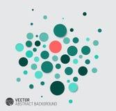 Fond abstrait de vecteur avec les cercles bleus Photos libres de droits