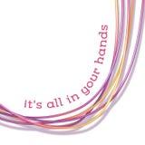 Fond abstrait de vecteur avec les cordes colorées Photo libre de droits