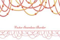 Fond abstrait de vecteur avec les perles colorées Photo stock