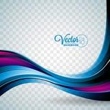 Fond abstrait de vecteur avec les vagues violettes Images libres de droits