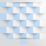 Fond abstrait de vecteur. Bleu blanc carré Photo stock