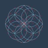 Fond abstrait de vecteur de cercle illustration stock