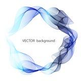Fond abstrait de vecteur Cercles abstraits de vague Cadre de cercle illustration de vecteur