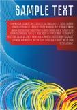 Fond abstrait de vecteur de couleur bleue pour information, les présentations, les affiches, les anneaux colorés et les lignes, b illustration libre de droits