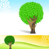 Fond abstrait de vecteur d'arbre généalogique Images libres de droits