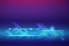Fond abstrait de vecteur de flèches bleues Image libre de droits