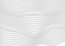 Fond abstrait de vecteur de vagues du blanc gris 3d Photo libre de droits