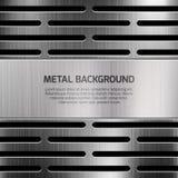Fond abstrait de vecteur en métal de techno Image stock