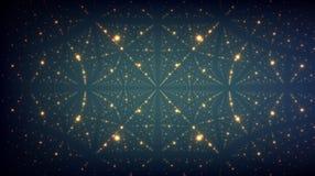 Fond abstrait de vecteur Matrix de rougeoyer se tient le premier rôle avec l'illusion de la profondeur et de la perspective Photographie stock libre de droits