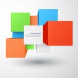 Fond abstrait de vecteur. Place et objet 3d Images stock