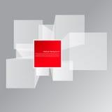 Fond abstrait de vecteur. Place et objet 3d Image stock