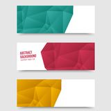 Fond abstrait de vecteur. Polygone d'origami Photos libres de droits