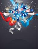 Fond abstrait de vecteur pour le 4 juillet Image libre de droits