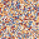 Fond abstrait de vecteur Se compose des éléments géométriques Les éléments ont une forme carrée et une couleur différente Photographie stock