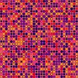 Fond abstrait de vecteur Se compose des éléments géométriques disposés sur le fond en magenta Photo stock