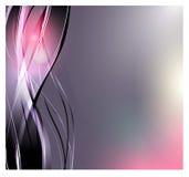 Fond abstrait de vecteur Vagues incurvées lumineuses pour la publicité Lignes rougeoyantes illustration stock