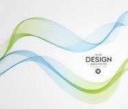 Fond abstrait de vecteur, vert bleu onduleux Photos libres de droits