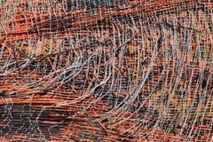 Fond abstrait de vieille texture en plastique de tapis Images libres de droits