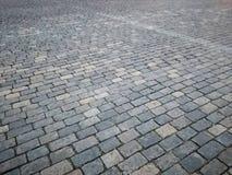 Fond abstrait de vieille texture de trottoir de pavé rond photo stock