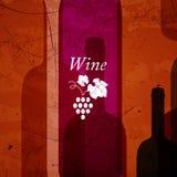 Fond abstrait de vin Image libre de droits