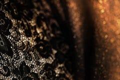 Fond abstrait de vintage avec le rétros élément et fond floraux de bokeh de couleur Photographie stock