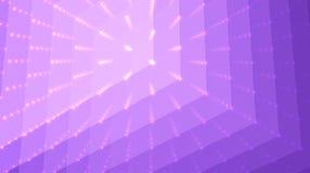 Fond abstrait de violette de vecteur Matrix des points et des polygones avec l'illusion de la profondeur et de la perspective illustration stock