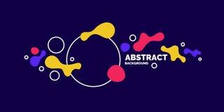 Fond abstrait dernier cri Composition des formes et des cercles amorphes illustration de vecteur