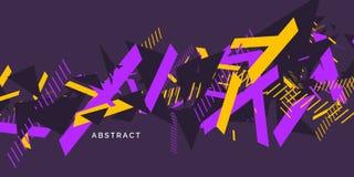 Fond abstrait dernier cri Composition des formes géométriques illustration libre de droits