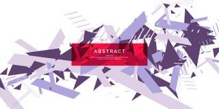 Fond abstrait dernier cri Composition des formes géométriques illustration stock