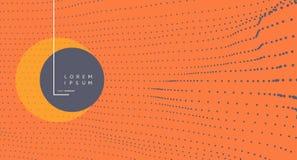 Fond abstrait dernier cri Rangée avec les particules dynamiques Élément moderne de la science ou de technologie Illustration de g illustration libre de droits