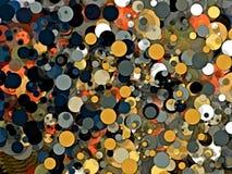 Fond abstrait des boules colorées chaotiquement disposées illustration stock