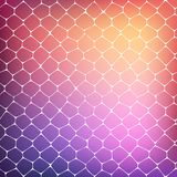 Fond abstrait des cellules colorées Images stock