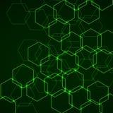Fond abstrait des cellules hexagonales Photos libres de droits