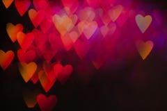 Fond abstrait des coeurs colorés dans le MOIS Image libre de droits