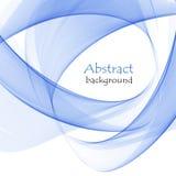 Fond abstrait des courbes abstraites bleues illustration libre de droits