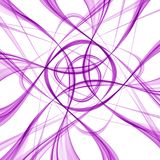 Fond abstrait des courbes abstraites pourpres illustration de vecteur