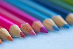 Fond abstrait des crayons Images libres de droits