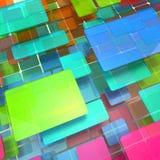 Fond abstrait des cubes colorés photographie stock libre de droits
