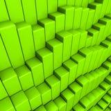 Fond abstrait des cubes colorés par vert Image libre de droits