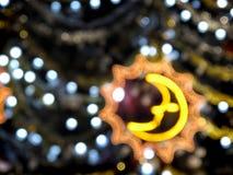 Fond abstrait des décorations de Noël Photo stock