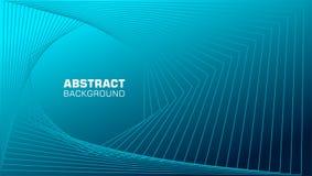 Fond abstrait des filets et des lignes dynamiques dans la couleur bleue illustration libre de droits
