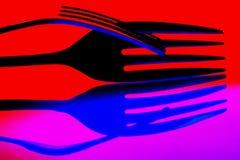 Fond abstrait des fourchettes images stock