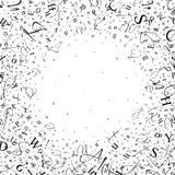 Fond abstrait des lettres et des chiffres Image stock