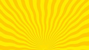 Fond abstrait des lignes jaunes et oranges incurvées illustration libre de droits